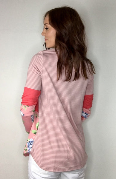 Colorblock Coral Top