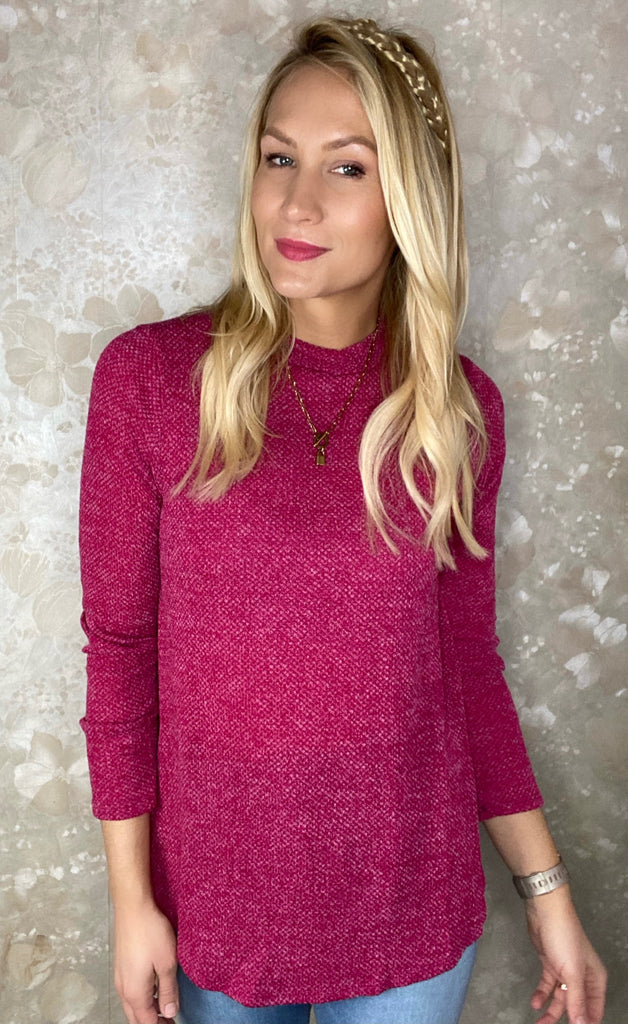 Mock Neck Knit Top