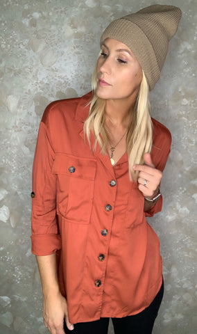 Button Down Utility Top