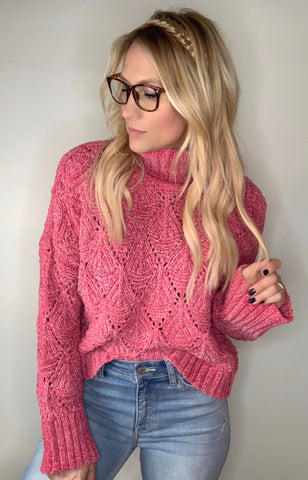 Eyelet Cutout Pullover Sweater