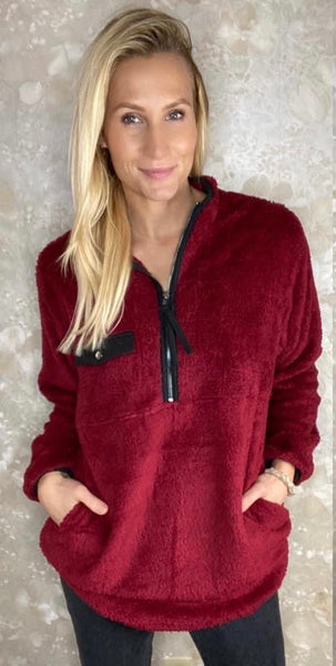 Fuzzy Quarter Zip Tunic