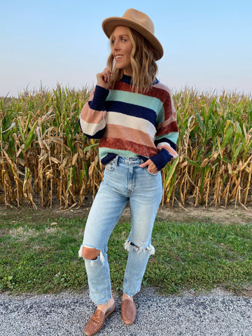 Striped Cozy Pullover Sweater