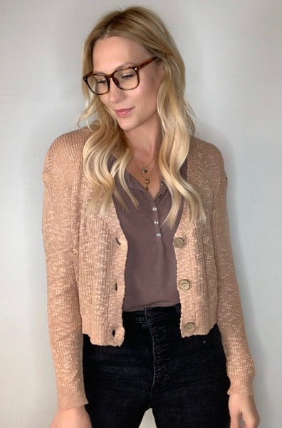Lightweight Slouchy Cardigan - Blush