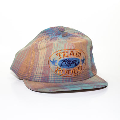 vintage plaid hat