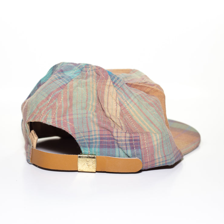 vintage leather strapback hat
