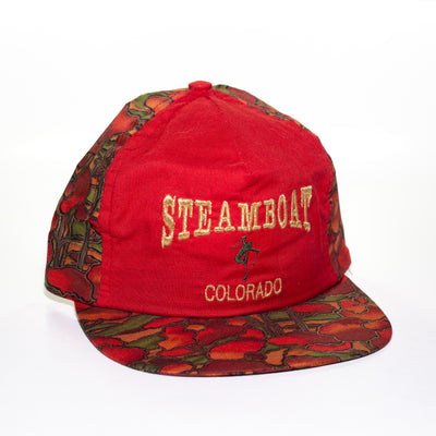 vintage red steamboat ski hat