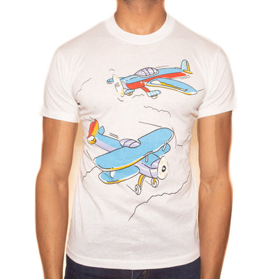 Vintage 90s Airplane T-Shirt - XS