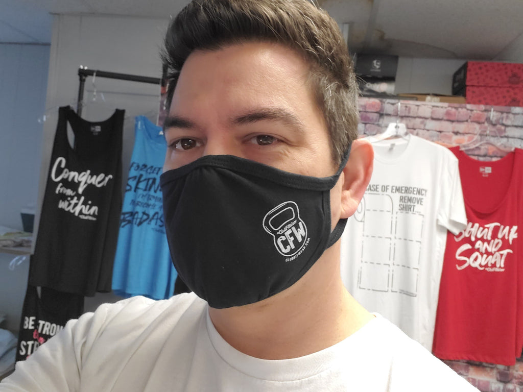 Fitted Reusable Face Mask - CFW Kettlebell Logo
