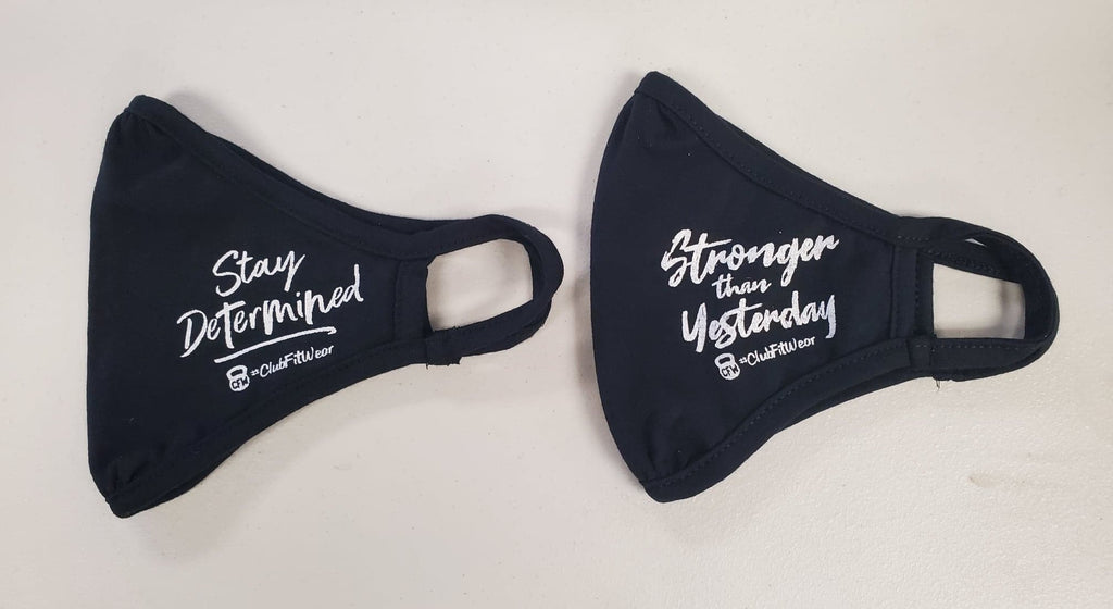 Fitted Reusable Face Mask Bundle - Stay Determined & Stronger than Yesterday