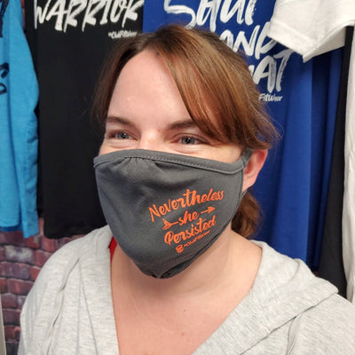 Fitted Reusable Face Mask - Nevertheless She Persisted