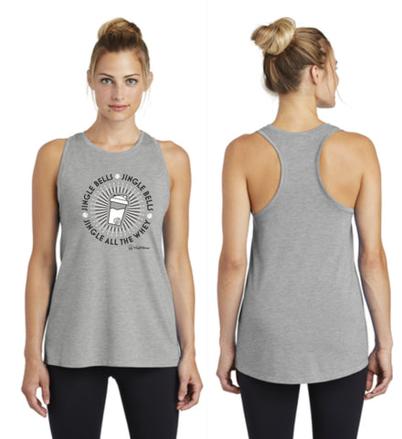 Jingle all the Whey - Premium Racerback Muscle Tank