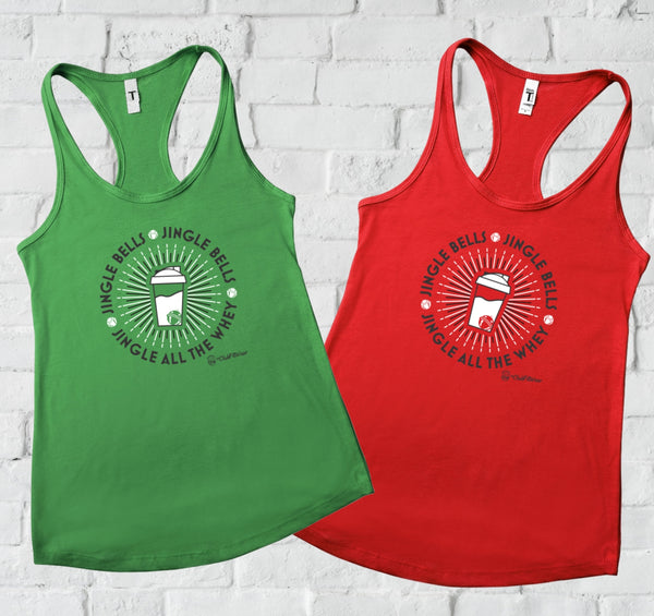 Jingle all the Whey - Racerback Tank