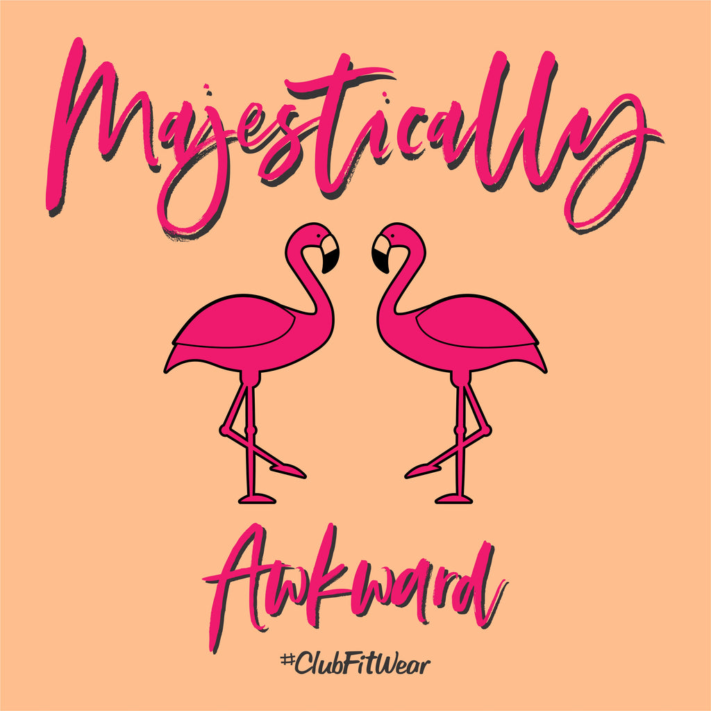 Majestically Awkward (Flamingos)