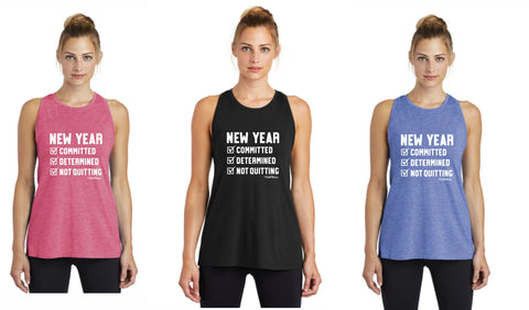 New Year Checklist - Premium Racerback Muscle Tank