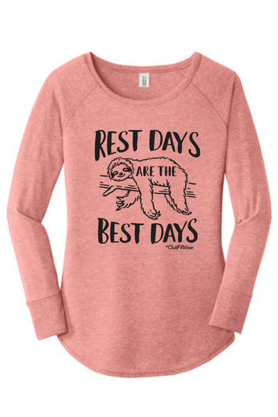 Rest Day are the Best Days - Long Sleeve Tunic
