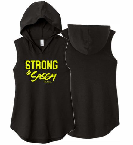 Strong and Sassy - Sleeveless Hoodie