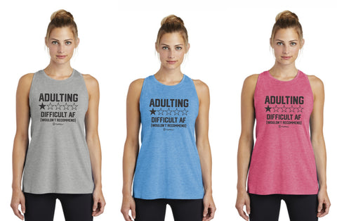 Adulting Difficult AF Wouldn't Recommend - Premium Racerback Muscle Tank