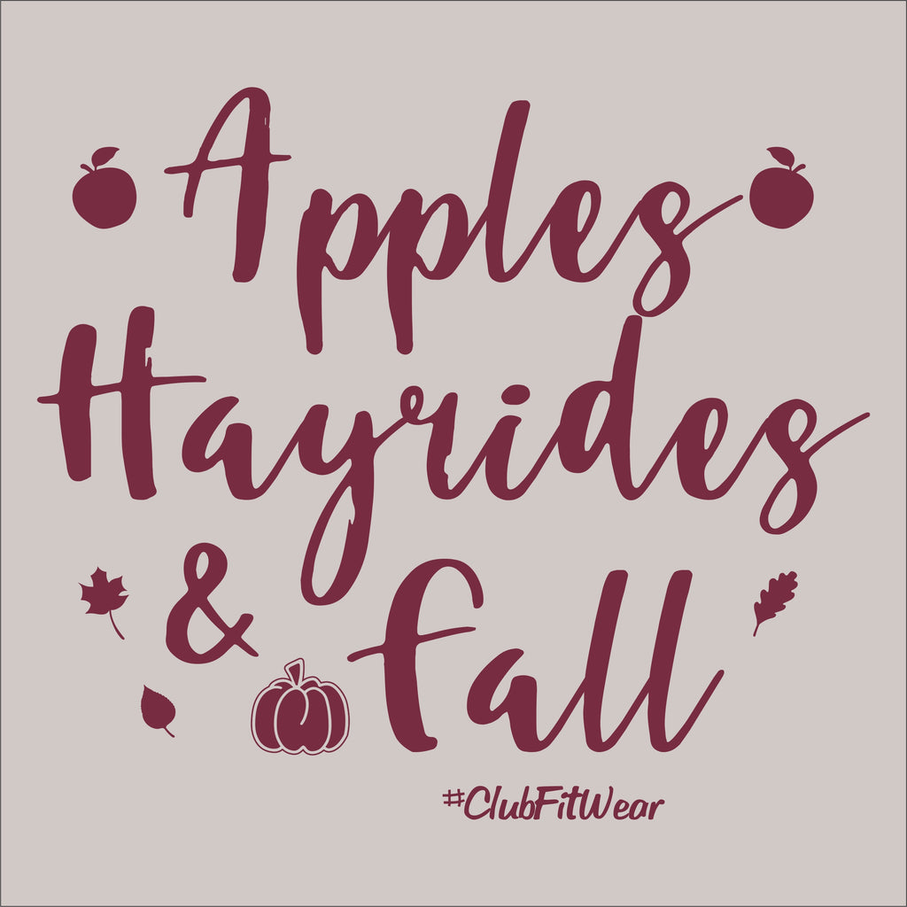Apples, Hayrides, and Fall