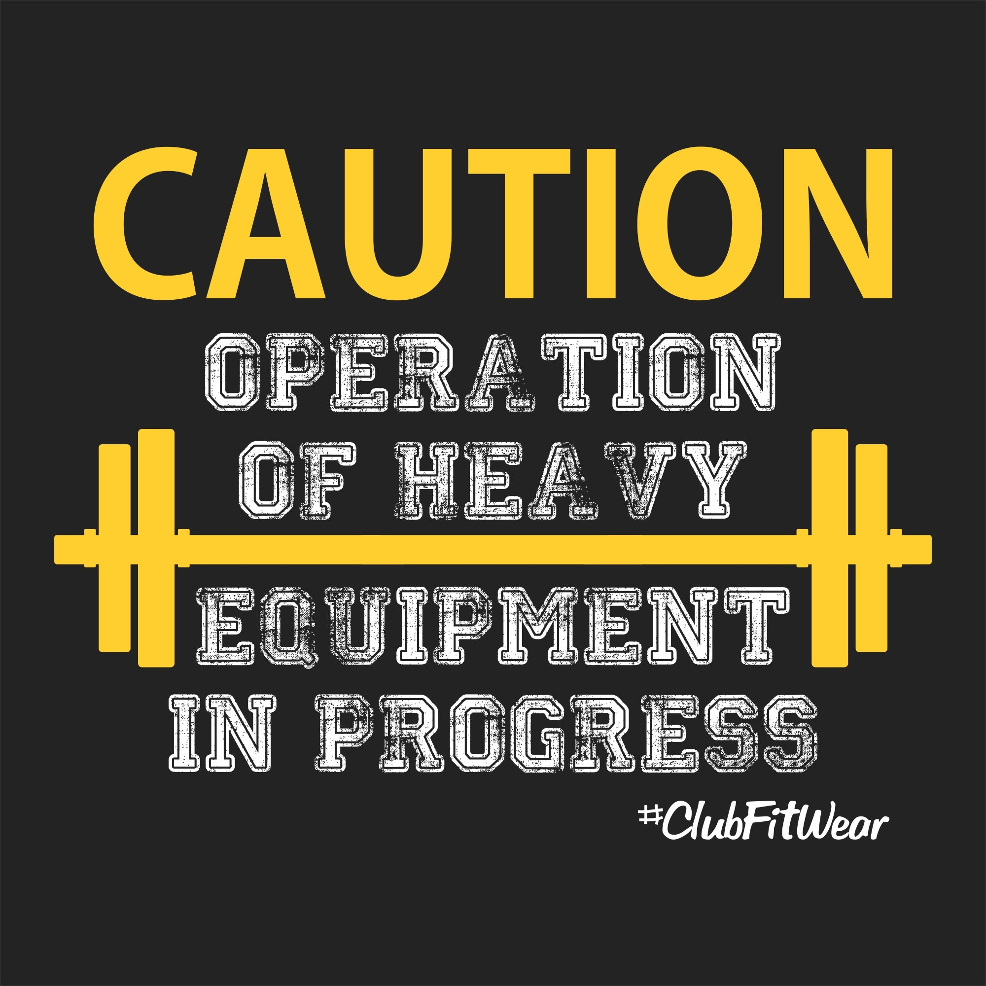 Caution Operation of Heavy Equipment in Progress