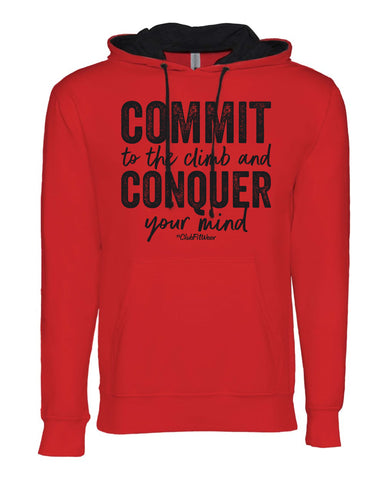 Commit to the Climb and Conquer your Mind Hoodie