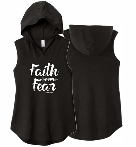 Faith over Fear - Sleeveless Hoodie
