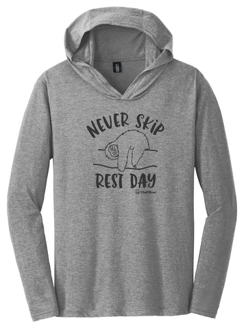 Never Skip Rest Day - Hooded Pullover