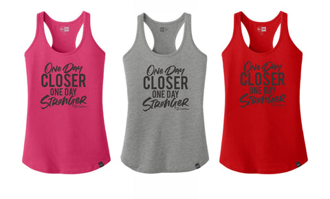 One Day Closer One Day Stronger - Premium New Era Tank