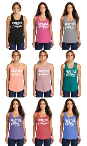 Practice Makes Progress - Premium TriBlend Racerback Tank