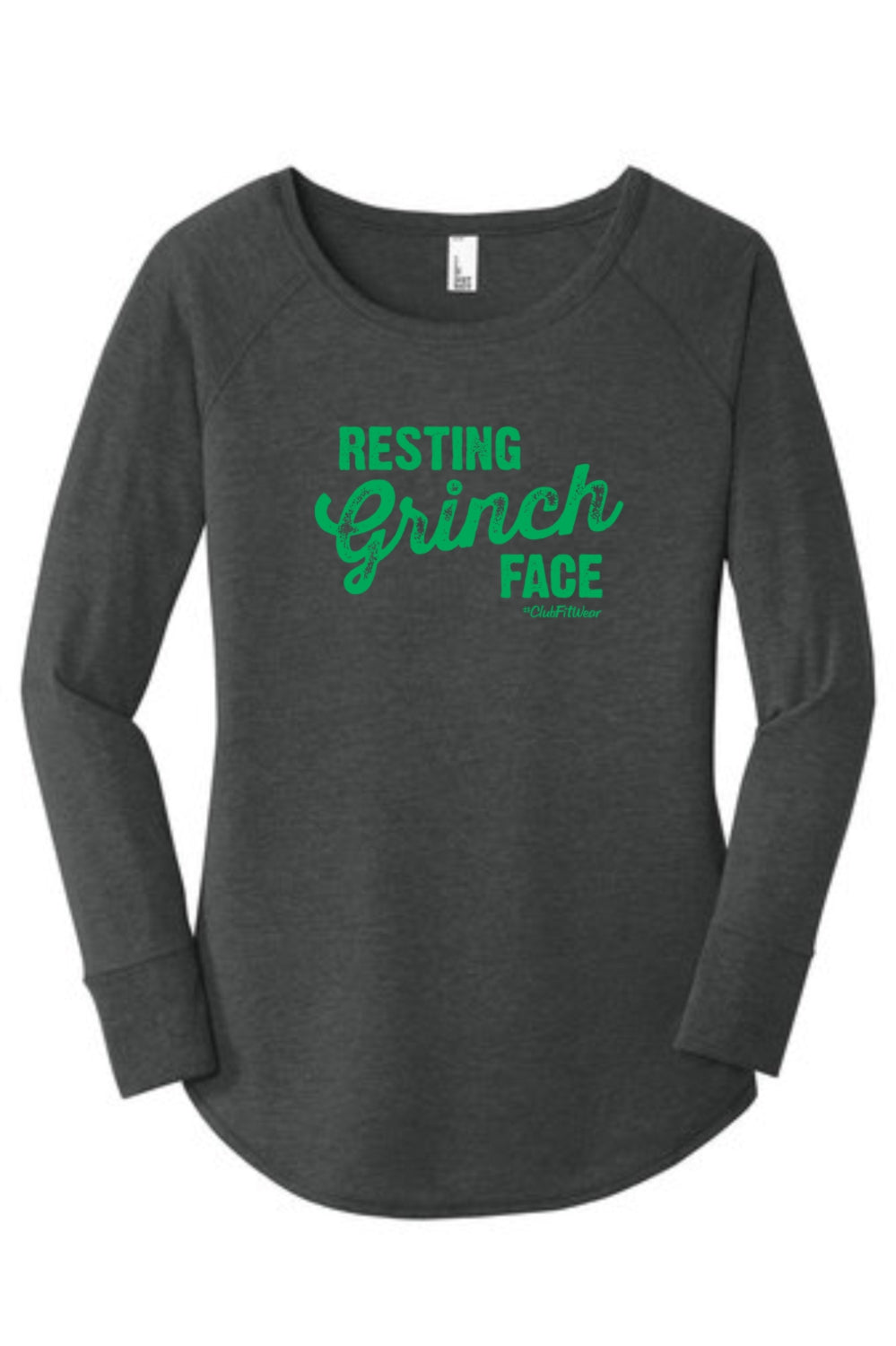 Resting Grinch Face - Long Sleeve Tunic