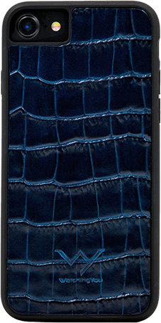WY - Cover Coccodrillo Blu Iphone 7/8
