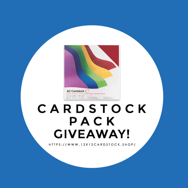 Facebook Giveaway: Primary Smooth Cardstock Pack