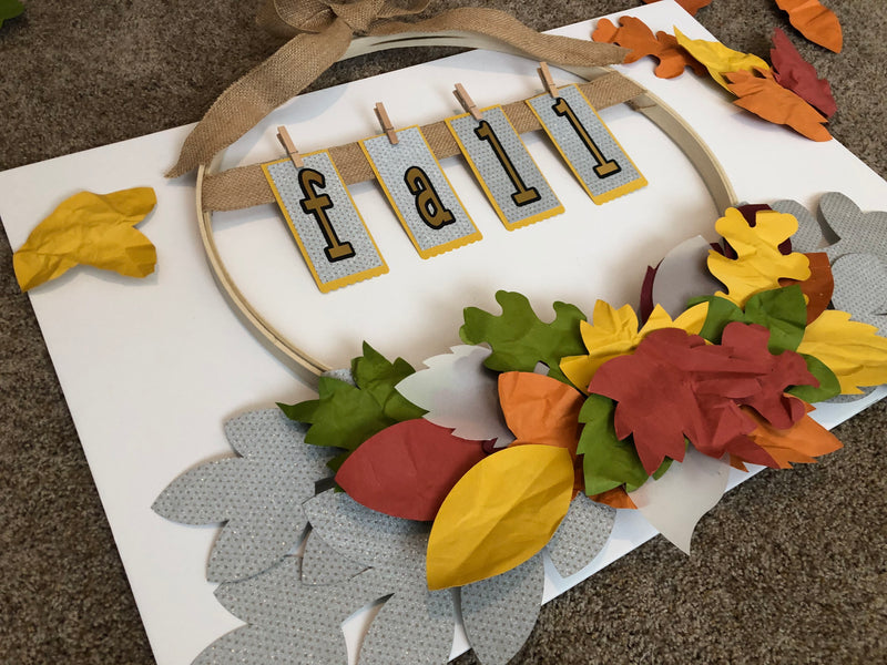 Embroidery Hoop Fall Wreath Tutorial