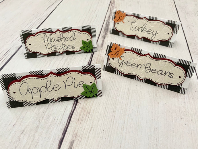 Thanksgiving Table Food Tent Cards