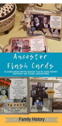 Ancestor Flash Cards with mini history and quick facts