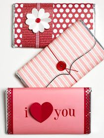 Chocolate Bar Love Letter's made with pattern paper and cardstock embellishments