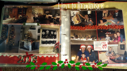 Sample scrapbook page of Christmas memories
