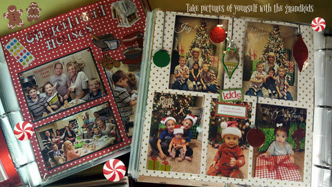 Scrapbook page ideas for Christmas memories