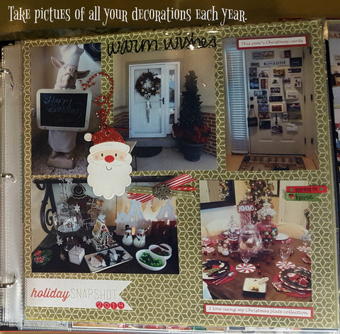 Christmas Memories scrapbook page on 12x12 cardstock