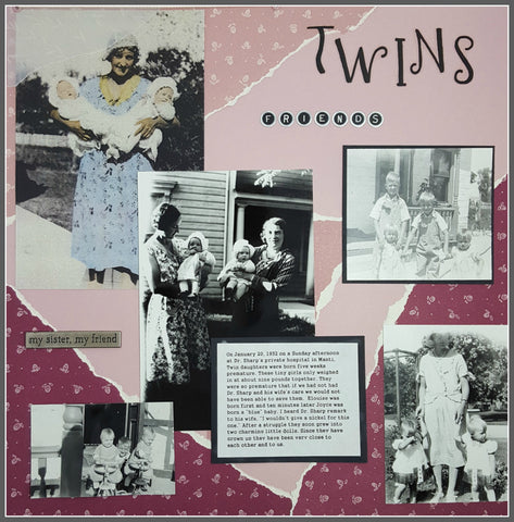 Twins 12x12 scrapbook page