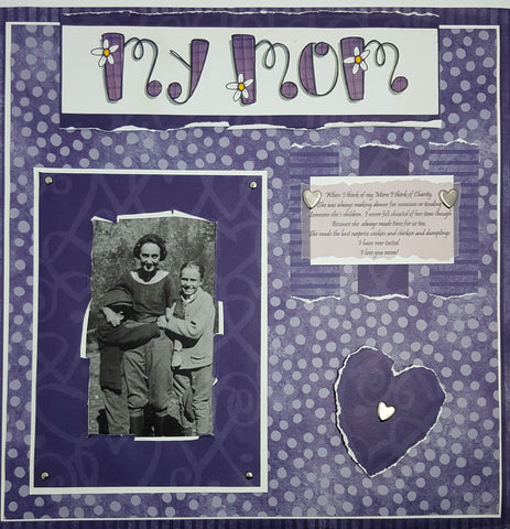 "Mother's Day scrapbook page titled ""My Mom"""