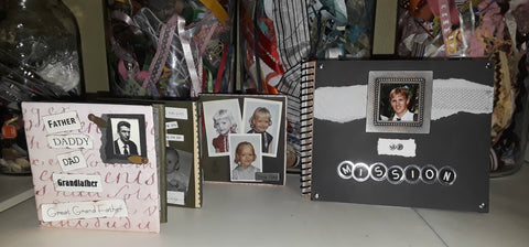 Mini Father's Day and Missionary scrapbook made with various cardstock scraps and other elements