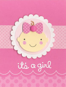 Punch art baby girl card