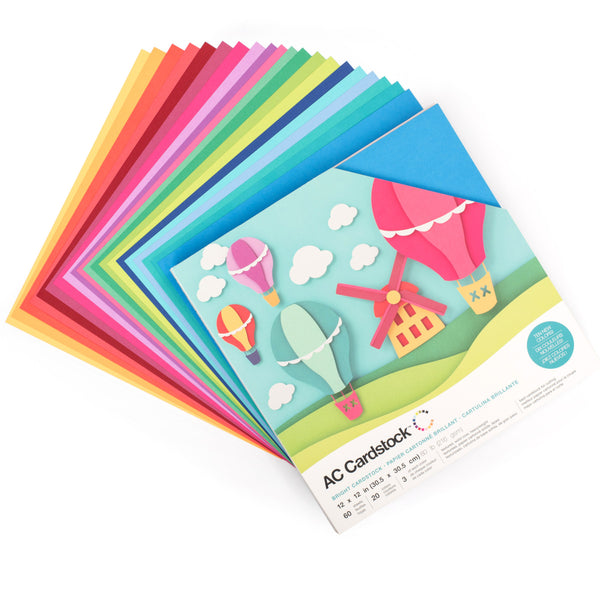 12x12 Cardstock Shop Carries All American Crafts Variety Packs with 60 Coordinated Cardstock Sheets
