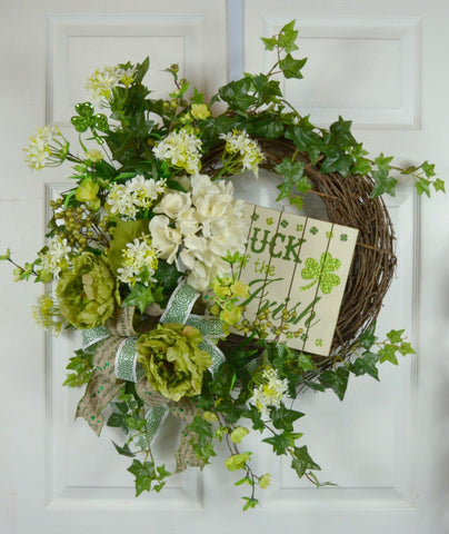 "St. Patrick's Day wreath ""Luck of the Irish"""