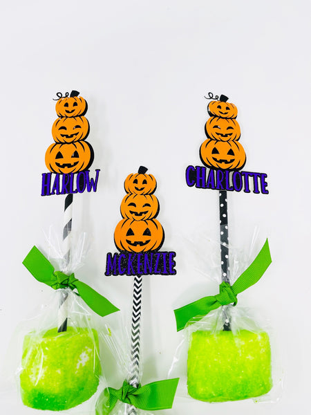 stacked pumpkins marshmallow topper