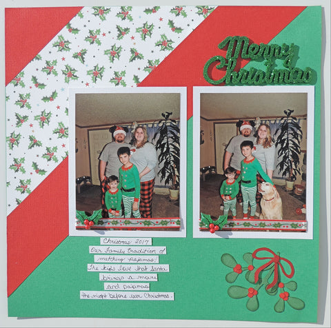 Left Title Page of a Christmas scrapbook