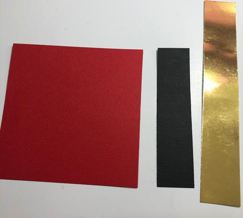 Crimson, black and gold foil cardstock