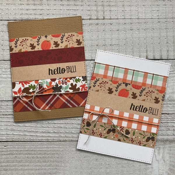 Echo park cards made with scraps