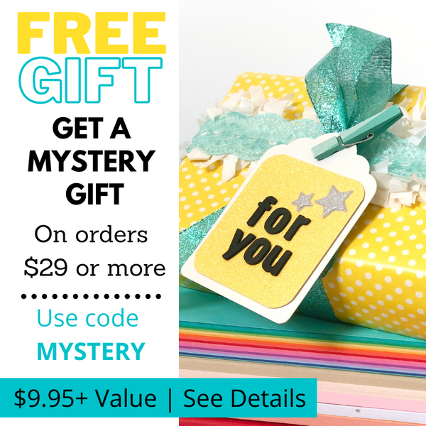 mystery gift with purchase of $29 at 12x12 Cardstock Shop