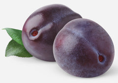 PLUM cardstock color is similar to the dark purple shade of these plums